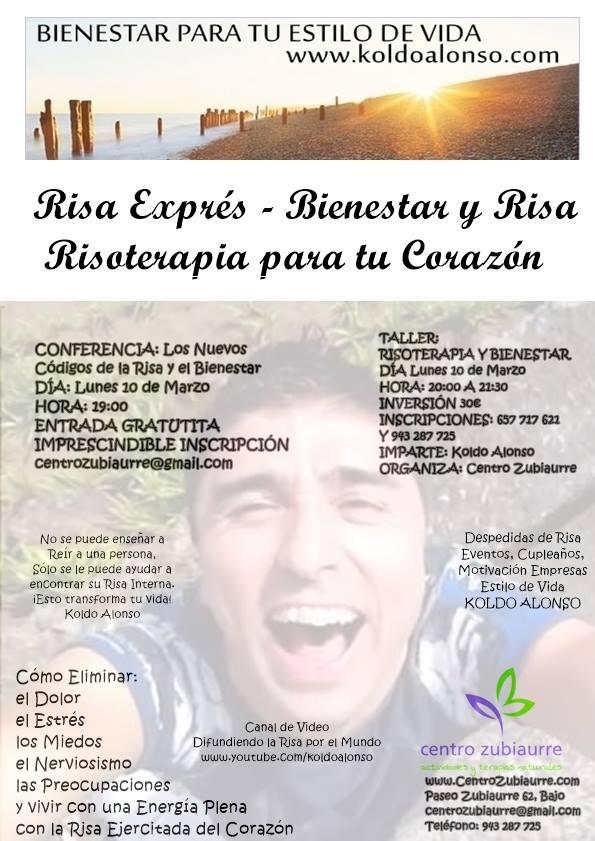 10 de Marzo 2014 Risa Expres Risoterapia para tu Corazon en Centro  Zubiaurre Donostia con Koldo