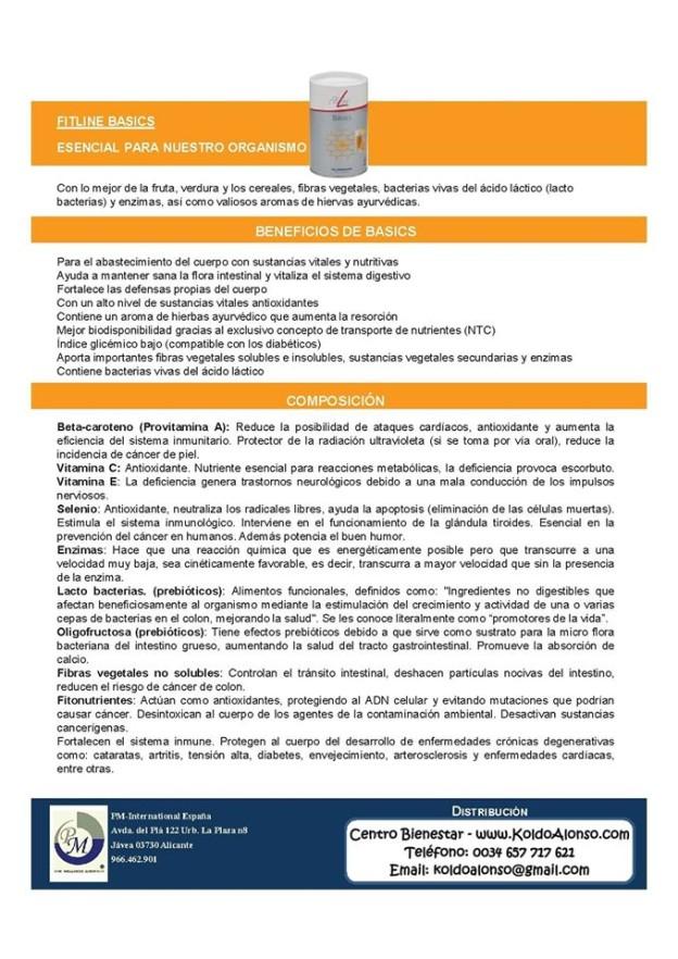 Fitline Basics Esencial para nuestro organismo PM International