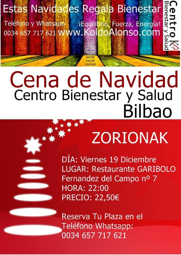 Cena de Navidad Centro Bienestar y Salud