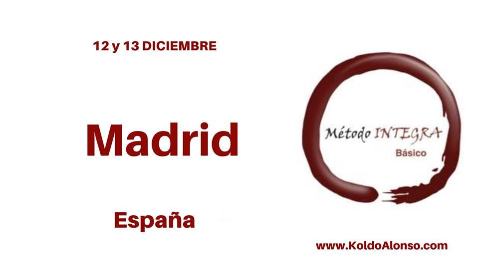 12 Y 13 DICIEMBRE 2018 Curso Metodo INTEGRA en MADRID ESPAÑA con Koldo Alonso Transformando del SUBCONSCIENTE