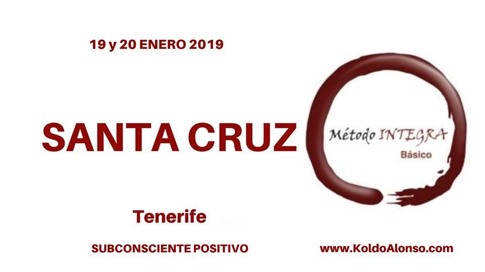 19 y 20 ENERO 2018 Curso Metodo INTEGRA en SANTA CRUZ de TENERIFE con Koldo Alonso Transformando del SUBCONSCIENTE