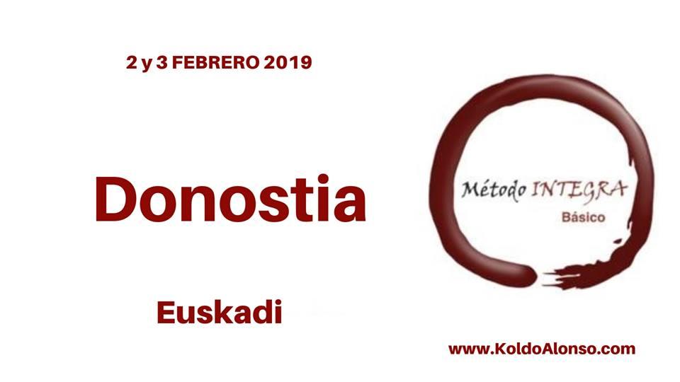 LOGO DONOSTIA 2 y 3 FEBRERO 2019 con Koldo Alonso CURSO METODO INTEGRA Transformando del SUBCONSCIENTE Liberar EMOCIONES y Cambiar CREENCIAS Pais Vasco