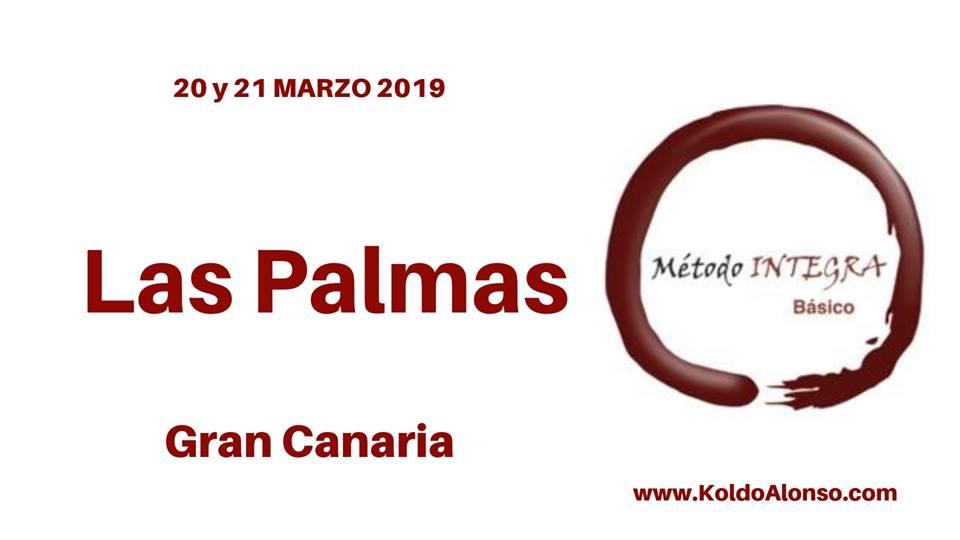 19 y 20 de MARZO 2019 Curso Método INTEGRA Básico en LAS PALMAS de GRAN CANARIA Islas Canarias con Koldo Alonso Cursos y Sesiones de TRANSFORMACION y Liberacion EMOCIONAL