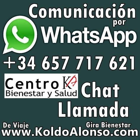 Comunicación por WhatsApp. Estamos en DONOSTIA – SAN SEBASTIÁN