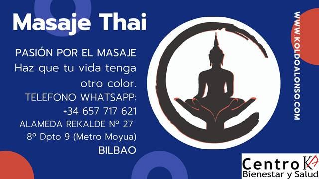 Masaje Tailandes en Bilbao y Donostia – San Sebastián.