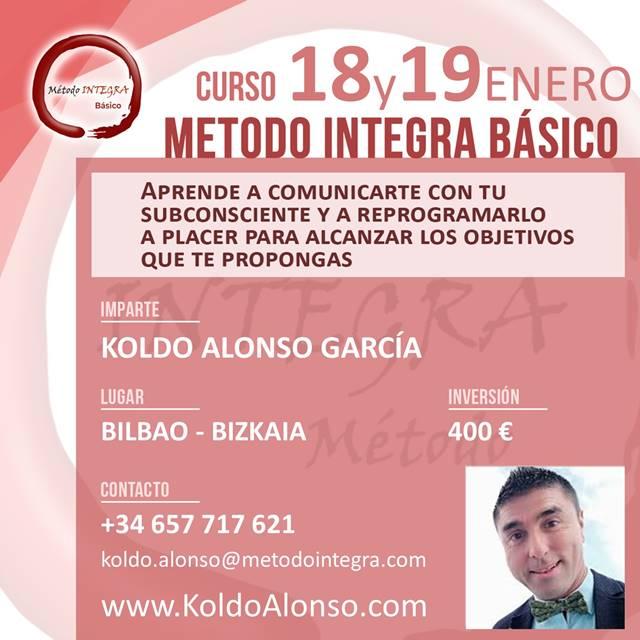 Curso Método INTEGRA BÁSICO en BILBAO ENERO 2020
