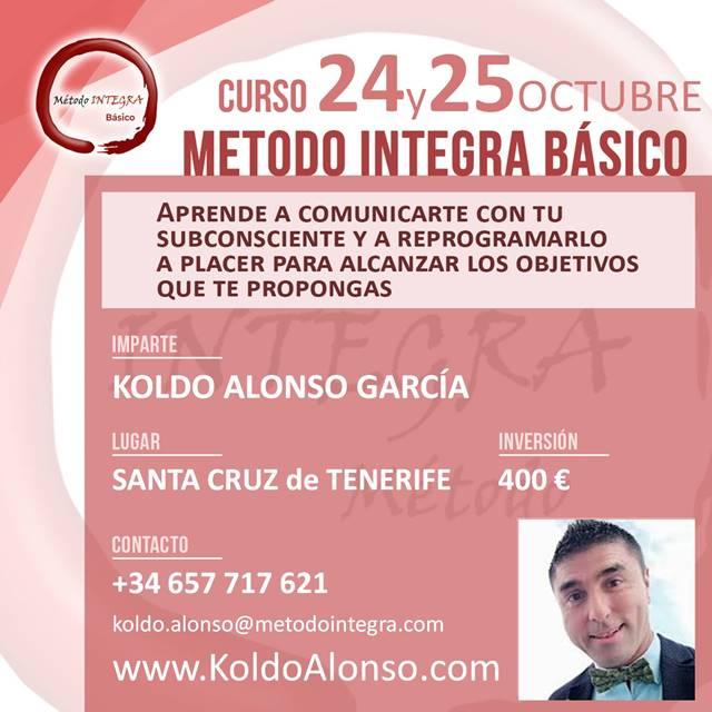 Curso Método INTEGRA BÁSICO en SANTA CRUZ de TENERIFE Octubre 2020