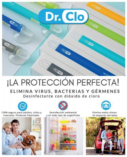 Barra desinfectante con dióxido de cloro