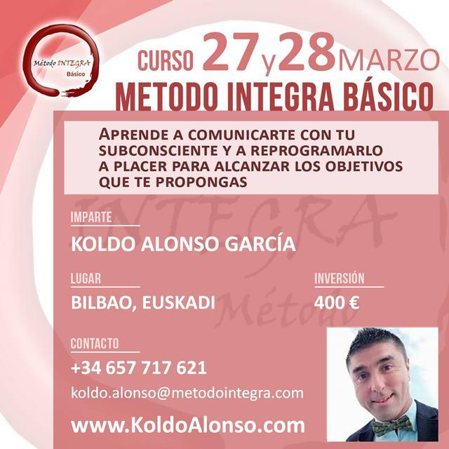 Curso Método INTEGRA BÁSICO en BILBAO Mayo 2021